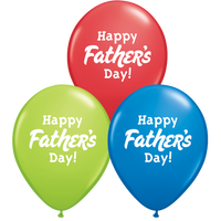 Fathers Day Balloons Assorted - Singles or Packs - Helium Filled or Flat