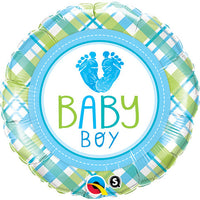 Baby Boy Balloon - Baby Feet  / 2 sided