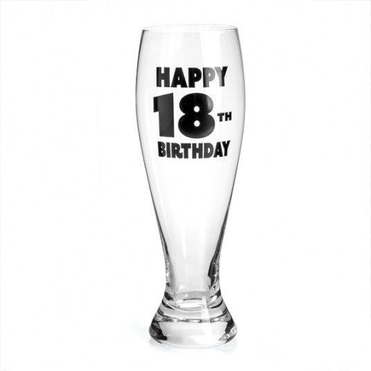 18th Birthday Beer Glass