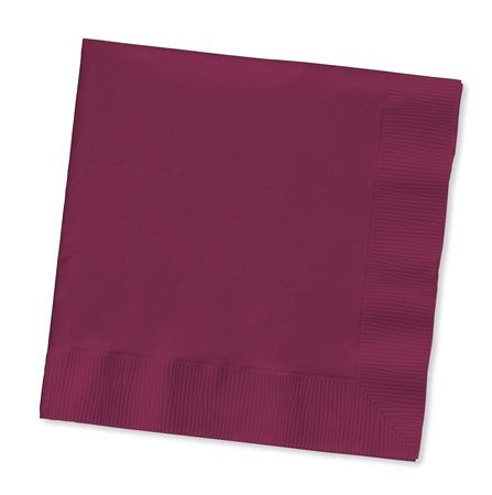 Dinner Napkin 2ply Burgundy Pk50