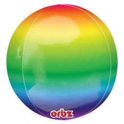 Rainbow Orbz Foil Balloon