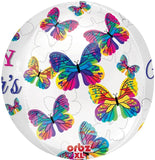 Happy Mother's Day Orbz Butterfly Balloon - Bouquet - Balloon in Box