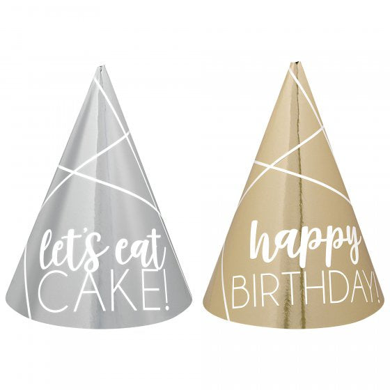 Mini Party Hats | Gold & Silver