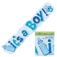 Its A Boy Large Banner