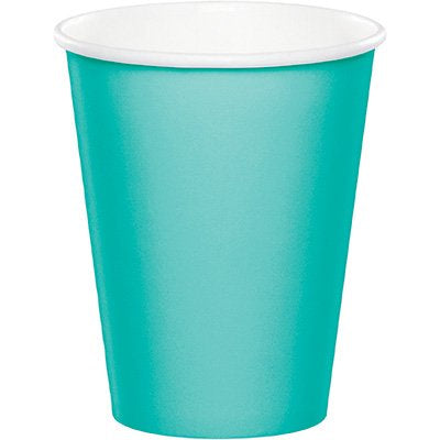 Teal Paper Cups Pk24