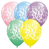 Baby Shower Balloons Assorted - Singles or Packs - Helium Filled or Flat