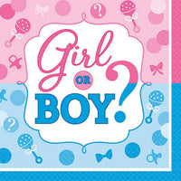 Girl Or Boy  Lunch Napkins Pk16