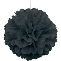 Tissue Paper Puff Ball | Black | 40cm