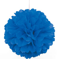 Tissue Paper Puff Ball |  Blue | 40cm
