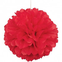Tissue Paper Puff Ball | Red | 40cm