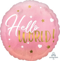 Hello World Balloon - Pink