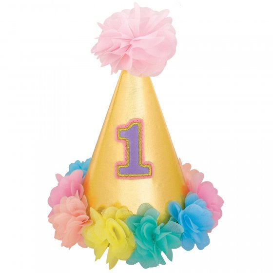 1st Birthday Girl Party Hat | Deluxe Each