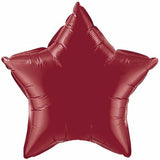 Burgundy Star Balloon Foil