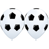 Soccer Balloons - Singles or Packs - Helium Filled or Flat
