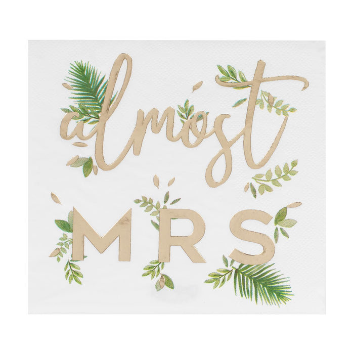 """Almost Mrs Gold Foil napkins"