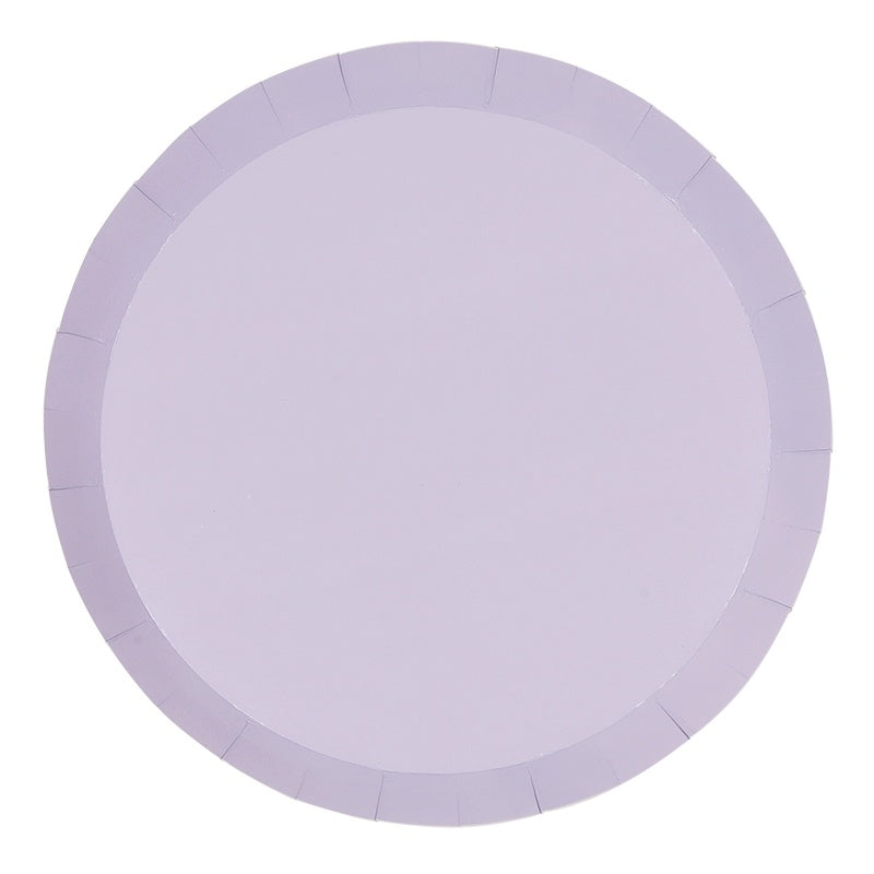 Lilac Paper Plates | Round | Snack | Pk10