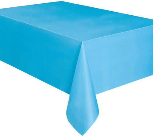 Light Blue Plastic Tablecover