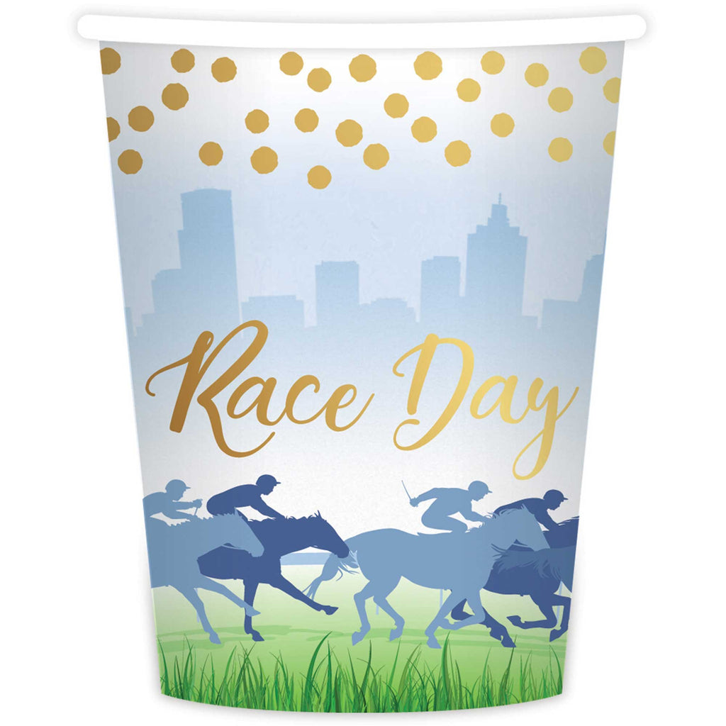 Race Day Paper Cups Pk8