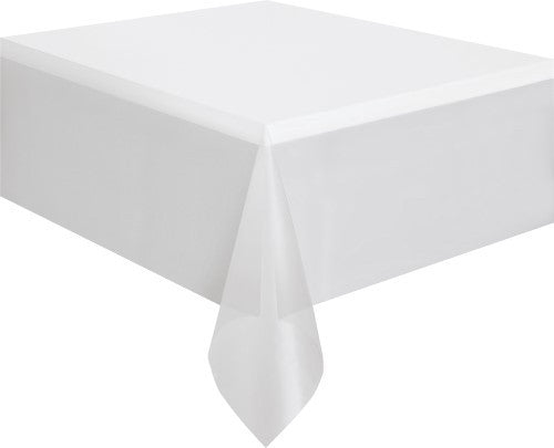 White Plastic Tablecover || Round