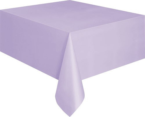 Lilac Plastic Tablecover