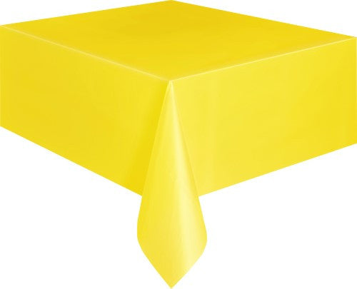 Yellow | School Bus Yellow  Plastic Tablecover