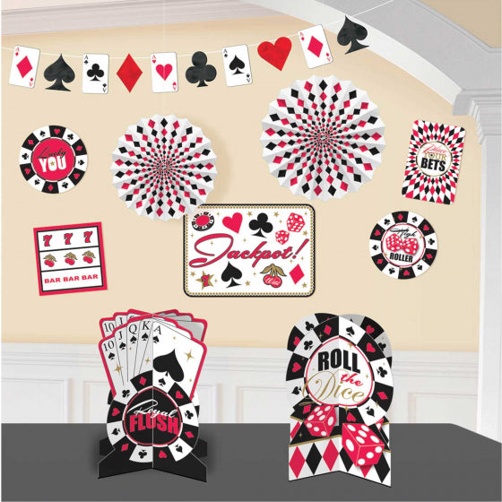 Casino Theme Decorating Kit | Place your Bets