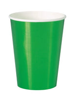 Metallic Green Paper Cups 355ml Pk8