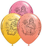 Princess Belle Balloons Assorted - Single or Pack - Helium Filled or Flat