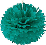 Tissue Paper Puff Ball  | Teal | 40cm