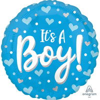 Its a Boy Balloon Blue - Helium Filled or Flat