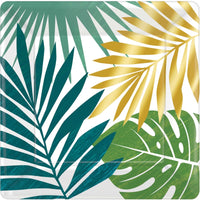 Palm Leaves Foil | Square Plates | PK8