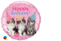 Cat Happy Birthday Balloon - Flat / Helium Filled / Bouquet