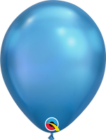 Chrome Balloons Blue  ~ Singles ~ Pack ~ Helium Filled ~ Flat