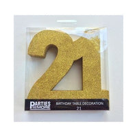 21 Gold Centerpiece | Gold Glitter
