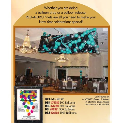 Balloon Drop Net | 100 Balloon Drop | Professional Grade