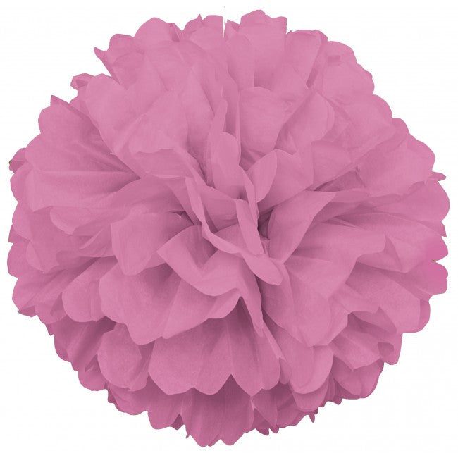 Tissue Paper Puff Ball  | Pastel Pink | 40cm