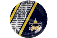 Cowboys NRL Paper Plates Pack of 6
