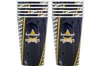 Cowboys NRL Paper Cups Pack of 6
