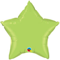 Lime Green Star Balloon Foil