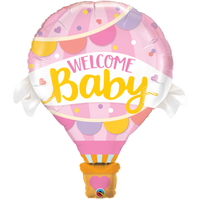 Welcome Baby Balloon Pink | Hot Air Balloon