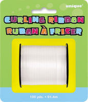 Balloon Ribbon - Curling Ribbon | White