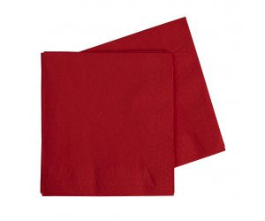 Red Napkins | Lunch Napkins | Premium Pk40