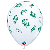 Balloons with Leaf Print - Single or Pack - Helium Filled - Flat