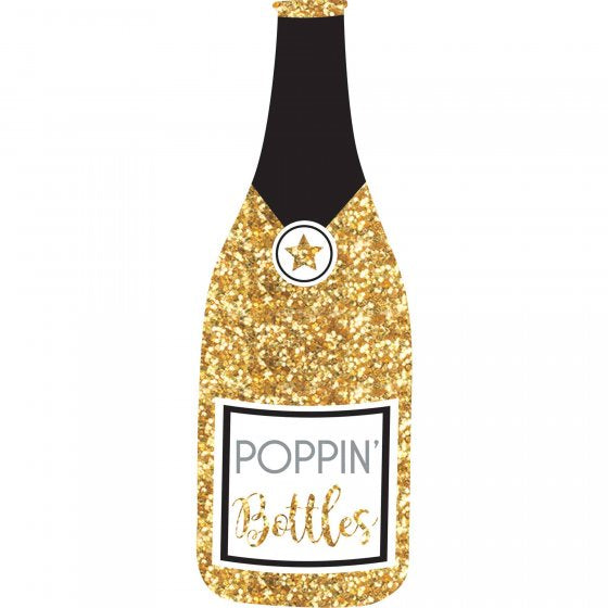 Giant Chanpagne Bottle | Photo Prop | Glittered Gold