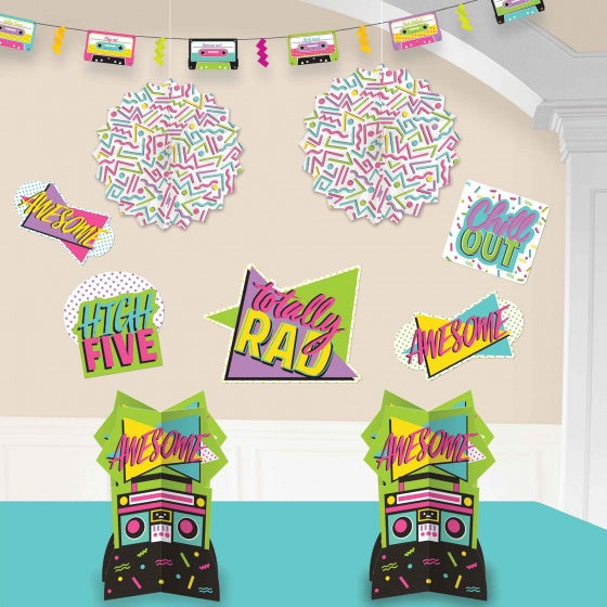 80's Theme Decorating Kit - Awesome