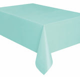 Mint Green Plastic Tablecover