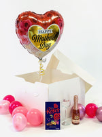 Mothers Day Balloon Gift Box with Champagne