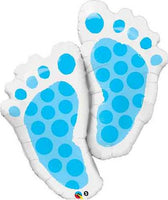 Baby Boy Balloon - Baby Feet Foil