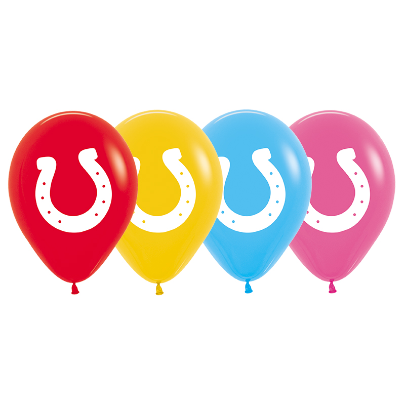 Horse Shoe Print Balloons - Singles or Packs - Helium Filled or Flat