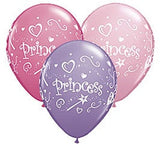 Princess Balloons Assorted - Single or Pack - Helium Filled or Flat